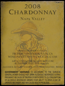 SOLD OUT!  2008 Napa Valley Chardonnay $23